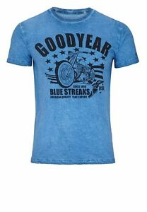 Goodyear Vincent T-Shirt grau Motorcycle Shirt Vintage Grey