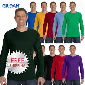 Gildan-Mens-T-Shirt-Long-Sleeve-Heavy-Cotton-5-3-oz-S-XL-R-G540-5400