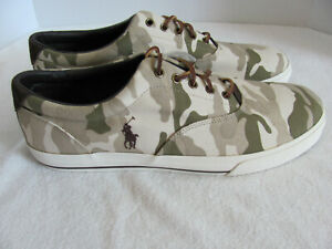426570ab0c6bf Image is loading Ralph-Lauren-Polo-Vaughn-Sneakers-Camo-Canvas-with-