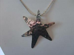 ONE STERLING SILVER STARFISH CHARM 16 MM PENDANT WITH INTEGRAL CLOSED RING
