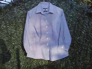 Women S Cotton Shirt Austin Reed Size 14 Thin Grey Stripe Ebay