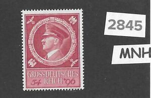 2845-Very-nice-MNH-stamp-Third-Reich-Germany-1944-Adolph-Hitler-039-s-Birthday