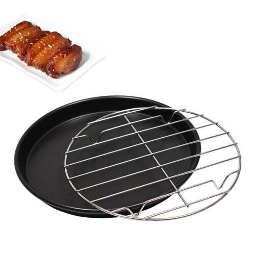 25cm Pfanne Edelstahl Grillkorb gegrilltes Hähnchen Für Fisch Gemüse Steak