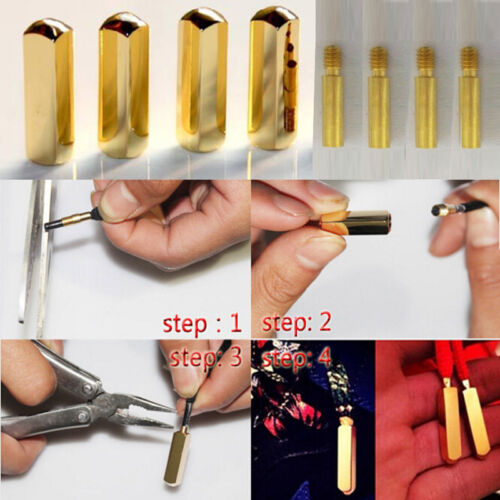 4 PCS//2 PAIRS METAL AGLETS TIPS DIY REPLACEMENT GOLD//SILVER LACE TIPS SHOELACES