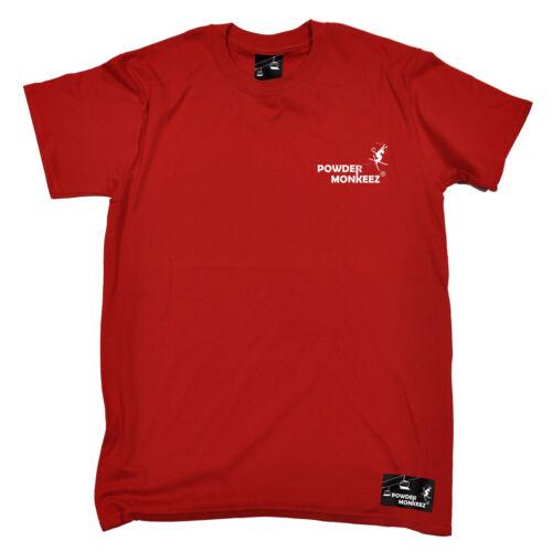 PM taschino da uomo in polvere Monkeez T-shirt Tee Compleanno Sci Snowboard