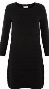Dress Bnwt Pointelle Perry Textured Monsoon Striped Black 22 Chevron Uk wavIxqZ