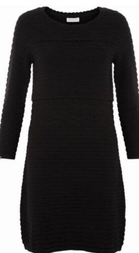 Pointelle 22 Black Striped Monsoon Textured Chevron Uk Dress Perry Bnwt 5xYYwqPE