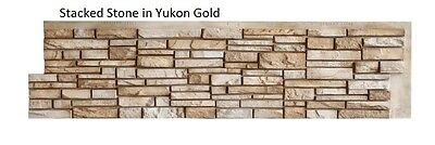 "Simulated Stone Panel 12""H x 48""W Stacked Stone in Yukon Gold by EasyRock"