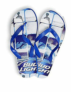 2d93c10249db Mens Bud Light Sandals Flip Flop Bud Men s Sizes Beach Sandals 2 ...