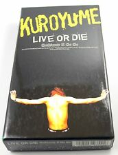 Kuroyume Live or Die Corkscrew A Go Go VHS Jpop Jrock from Japan