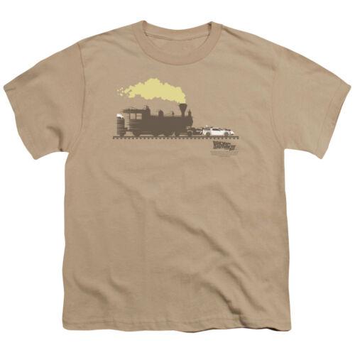 Back to the Future III TRAIN PUSHING THE DELOREAN BOYS /& GIRLS T-Shirt S-XL