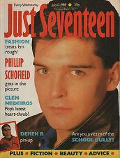 Just Seventeen Magazine 13 July 1988   Phillip Schofield  Derek B Glenn Medeiros