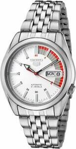 Seiko-5-Automatic-White-Dial-Silver-Stainless-Steel-Mens-Watch-SNK369K1-RRP-169