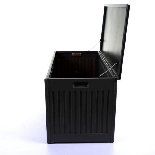 270 L Gris Jardin Boîte de rangement extérieure en plastique Utility Cabinet hangar poitrine Coussin