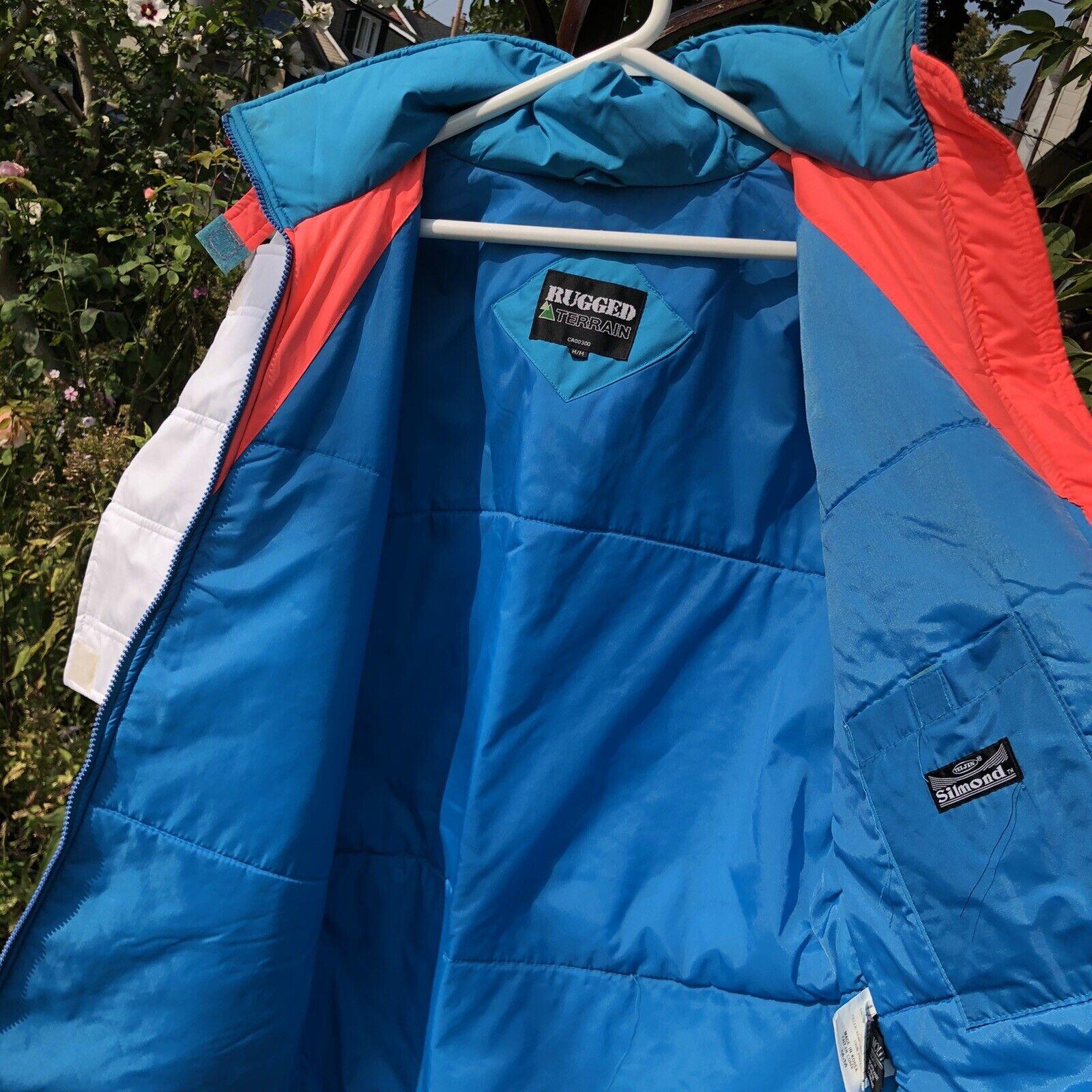 Vintage 90s Ski Multi-color Color Block Jacket Co… - image 8