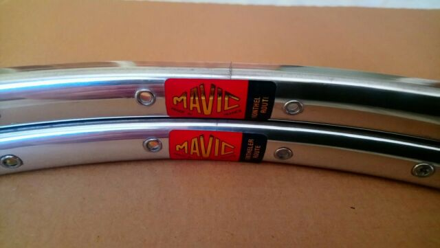 ONE PAIR OF NOS MAVIC MONTHLERY ROUTE TUBULAR RIMS 700 36 HOLES MADE IN FRANCE