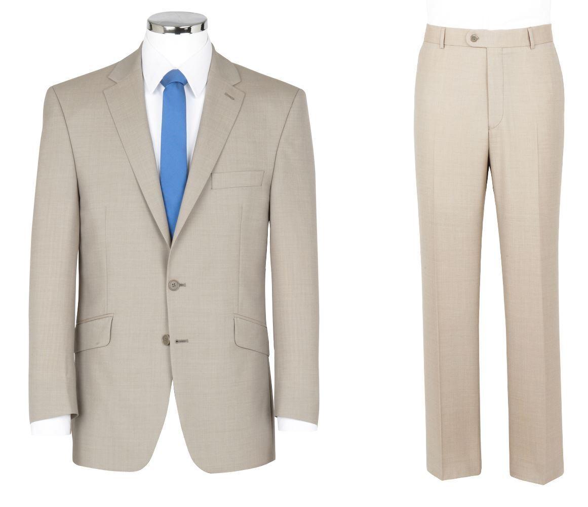SCOTT Leinen Stein Sommer Gewicht 2 Teiliger Anzug in den Größen 46 to 152.4cm,S
