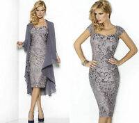 Lace Formal Evening Mother Of The Bride Dress & Free Jacket Stock Size 8 -18