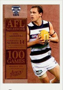 2012-Select-AFL-Champions-Milestone-Card-MG25-Joel-Selwood-Geelong