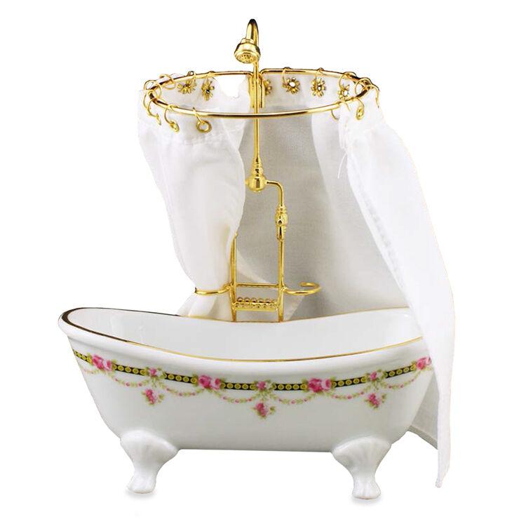 Reutter Porzellan PIATTO DOCCIA con sipario Victorian Tub SHOWER bambole Tube 1 12