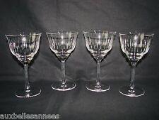 ANCIEN VERRE A PIED x 4 / EAU VIN RAISIN VIGNE CAVE ALCOOL BOISSON OLD GLASS