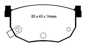 DP3528C EBC Redstuff Pastillas de Freno Traseras para Nissan