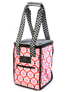 SCOUT-Mackenzie-Childs-IKAT-PINK-Insulated-VINEYARD-TOTE-Wine-Cooler-m19-2
