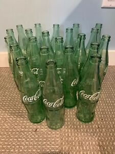 vintage lot of 22 coke bottles various locations 1955-56-62 e386