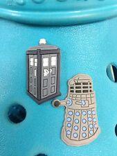 2 Dr Who Tardis & Dalek encantos del zapato Para Crocs Y Jibbitz Pulseras. Uk libre de envío