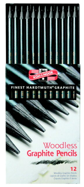 Koh-I-Noor Woodless Graphite Pencil Assortment, Pack of 12