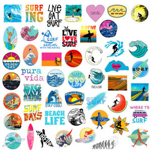 50Pcs-Cool-Surf-Pegatinas-Bomb-Vinilo-Impermeable-Equipaje-Tabla-de-Surf-Surf-Calcomanias