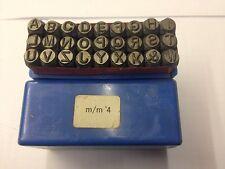 Schlagbuchstaben Schlagbuchstabenset  A- Z Ziffernhöhe 4mm Schlagstempel