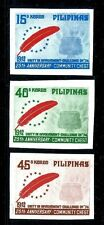 Philippines 1239a-1241a imperf, MNH.Community Chest.Red Feather Emblem
