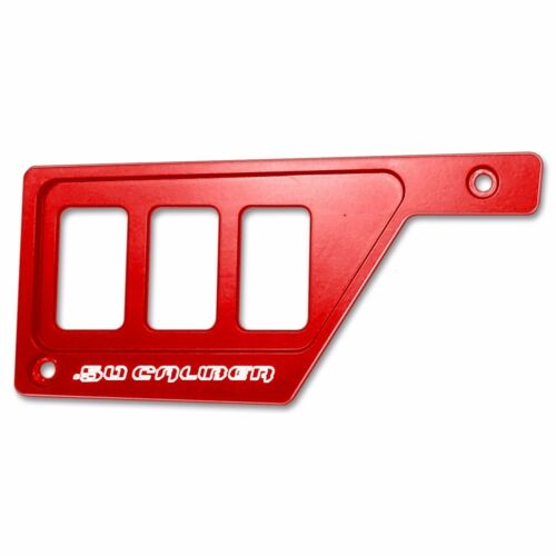 Billet Left Dash Panel Plate Bezel 3 Rocker Switch Polaris RZR XP1000 Havasu Red