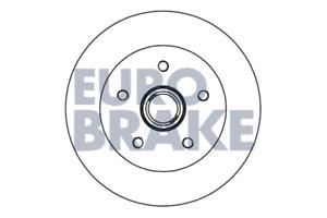 eurobrake 5815204727 Disque de frein 2 pièces