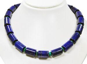 Collier-de-pierres-precieuses-Magnifique-en-forme-cylindrique-avec-perles