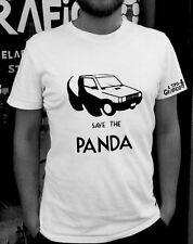 T-shirt Save the Panda ( Fiat ) - Maglia Cotone 100% BIANCO