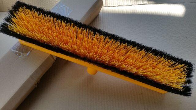 **FREE SHIPPING** Oates Workshop Broom Yellow 450mm Medium Stiff