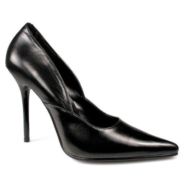 Milan-01 Pleaser elegante spitze Damen High Heels Pumps echt Leder schwarz 36