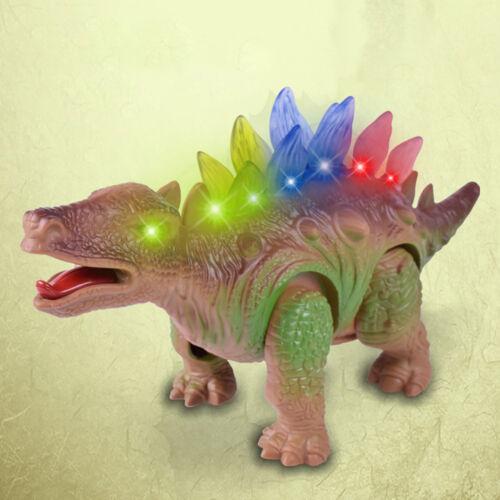 Light Up Dinosaur Electronic Walking Robot Roaring Interactive Dino Toy Gift U