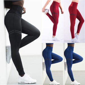 Women-Sport-YOGA-Pants-Workout-Gym-Fitness-Leggings-Stretchy-Trousers-Sportswear