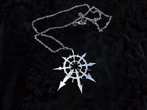 Chaos star pendant stainless steel undivided necklace warhammer 40k image is loading chaos star pendant stainless steel undivided necklace warhammer aloadofball Gallery