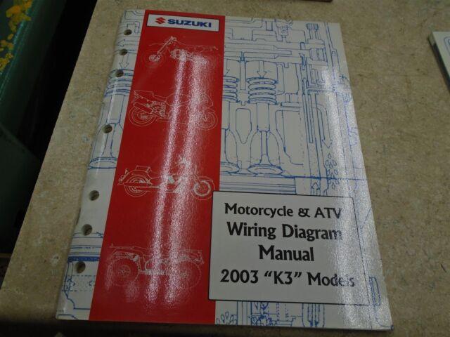 Suzuki Wiring Diagram Used Manual 2003 K3 Models  Sr