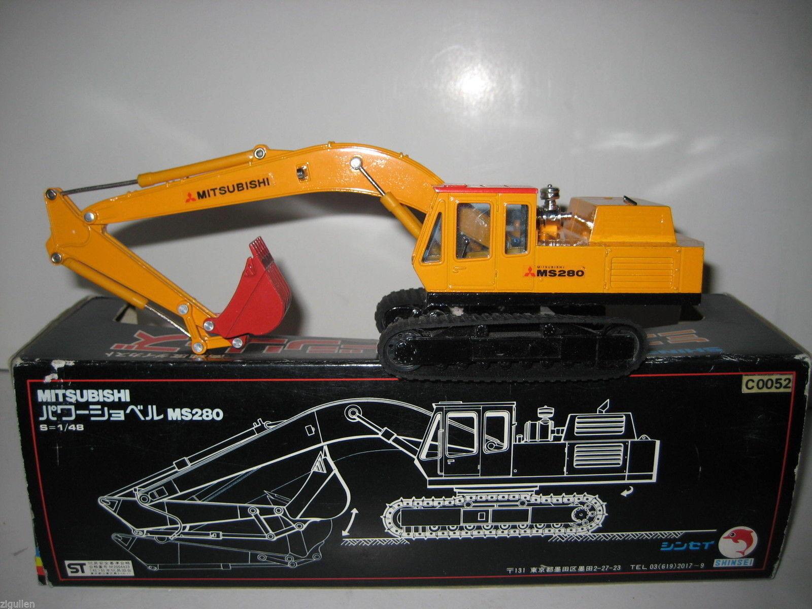 MITSUBISHI MS 280 Excavator Deep Spoon Shinsei 1 48 Ovp Rar