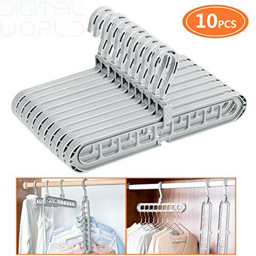 Emooqi Space-Saving Hangers 10 Pack Multifunction Hangers//Magic Clothes...