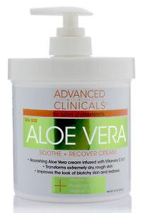 Advanced-Clinicals-Spa-Size-Aloe-Vera-Cream-Soothe-Recover-16-Oz-454g