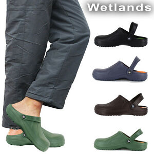 Mens Slippers Slip On Mule Beach Garden Clogs Sports Pool Hospital Shoes Size UK