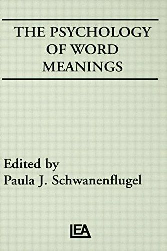 PSYCHOLOGY OF WORD MEANINGS (COG STUDIES GRP OF INST FOR By Paula J.