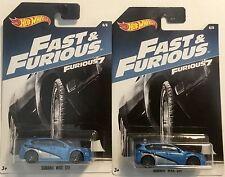 2017 Fast and the Furious 7 Subaru WRX STI Walmart Exclusive Hot Wheels Lot of 2