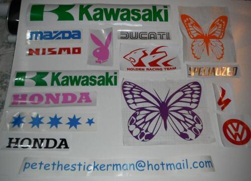 decal 210mm x 39mm White Specialized vinyl sticker